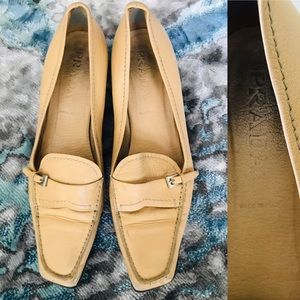 PRADA Italy Leather Low Heel Slip on Shoes Size 12